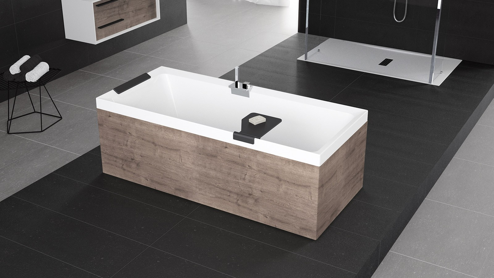 Excellent vasche e cabina doccia nuova ceramiche marmolada - Misure vasca da bagno piccola ...